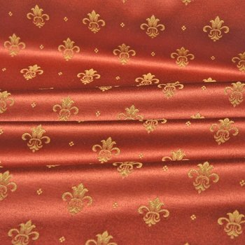 Polsterstoff Satin Jacquard Giglio Bordeaux Regal