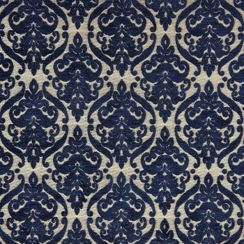Polsterstoff Chenille Jacquard Malory Dunkelblau