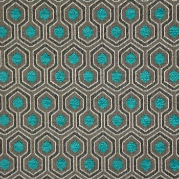 Polsterstoff Chenille Jacquard Optimo Turquoise