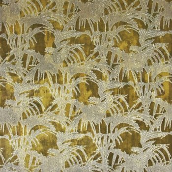 Polsterstoff Samt Jacquard Tropicale Citron