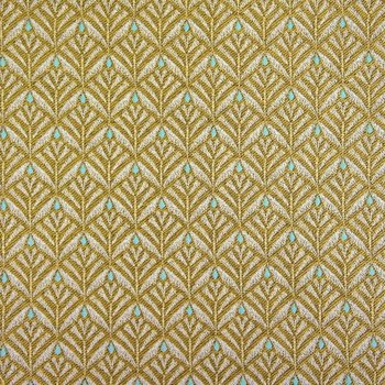 Dekostoff Jacquard Zephy Yellow